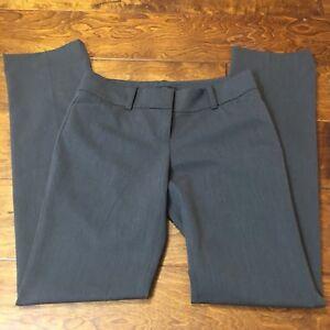 Ann Taylor Sz 0 Women's Dark Gray Low Rise Slacks Flat Front Straight Leg 30x32
