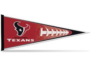 """NFL Houston Texans Pennant 12""""x30"""" Made In USA"""