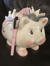 """Piggy Coin Bank """"Little Princess"""" Making Memories Pink With Pink Diaper"""
