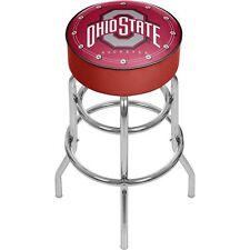 (ONE) OHIO STATE UNIVERSITY BACKLESS RED BAR STOOL ((TEMPORARILY OUT OF STOCK))