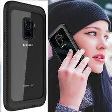 NEW Samsung Galaxy S9 Plus Waterproof Case Built-in Screen Protector Clear Back