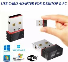USB 2.0 WIRELESS WiFi NETWORK RECEIVER CARD ADAPTER 150 Mbps FOR DESKTOP PC