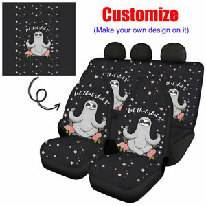 Personalized Custom Design Car Seat Covers Full Set Front & Rear Print On Demand