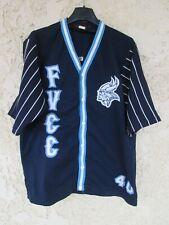 Maillot chemise baseball vintage FVCC n°40 porté STOECKLIN shirt 42