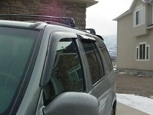 Tape-On Wind Deflectors for a 1996-2004 Nissan Pathfinder