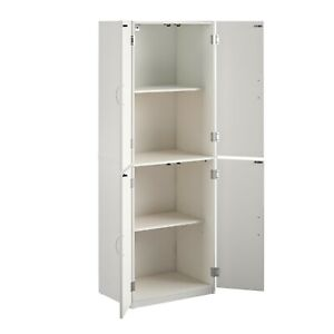 4 Door Storage Cabinet , 4 Shelves,2 Adjustible Ideal storage for any room