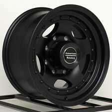 "16"" Black Wheels Rims Dodge RAM Chevy 2500 3500 Ford Truck F250 F350 8 Lug 16x7"