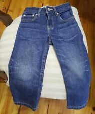 Baby GAP Loose Fit Blue Wash Jeans Boy Toddler 2yo;100% Cotton Adjustable Button