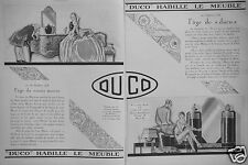 PUBLICITÉ 1927 LAQUE DUCO HABILLE LE MEUBLE - ADVERTISING