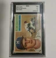 1956 Topps #107 Ed Mathews SGC 5.5 Gray Back