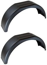 "2x 13 inch black plastic trailer mudguard 13"" mud guard boat wheel arch (pair) M"