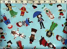 Timeless Treasures ~ Children World Costumes ~ 100% Cotton Quilt Sew Fabric BTY
