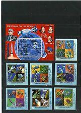 YEMEN ARAB REPUBLIC 1969 SPACE SET OF 7 STAMPS & S/S PERF.MNH