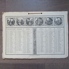 CALENDRIER ANCIEN 1929 LITHOGRAPHIE
