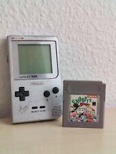 Nintendo Game Boy Pocket Handheld Spielkonsole - Silber + snoopy's