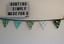 Dinosaur Bunting Party Grey Decor Nursery Unisex Birthday
