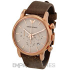 *NEW* MENS EMPORIO ARMANI ROSE GOLD CHRONOGRAPH WATCH - AR1809 - RRP £249.00