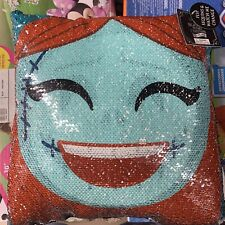 Nightmare Before Christmas Disney Jack Sally Sequin Pillow Skellington Halloween