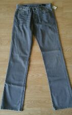 NWT! William Rast 'Jake' Straight Leg With Fit Stretch Jeans in Grey, Size 30