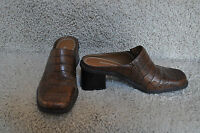 Womens NATURALIZER Brown Leather Slip Ons Shoes Size 7 M