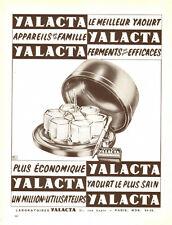 1958 Publicite Yaourtière YALACTA