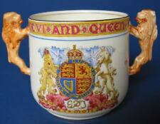 Large Size George VI Paragon Lion Handle Loving Cup