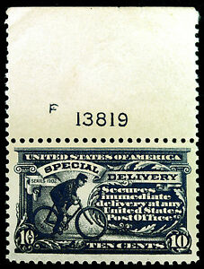 #E11 10c Blue Special Delivery 1917 Durland Plate #F 13819 XF MNH Gem Fresh