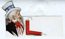 1910 4th of july Die Cut Place Marker w/ Uncle Sam