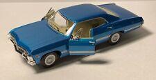 Kinsmart 1967 Chevrolet Impala Blue Car Scale 1:43 Diecast Toy New