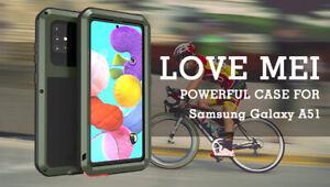 LOVE MEI Waterproof Metal Glass Case f Samsung A41 A51 A71 A30 A20 A50 A70 A70s