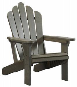 Gray Poly Adirondack Chair; 400 LBS Capacity Weatherproof & Fade Resistant