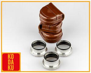 Rollei Rolleiflex Rolleinar I,II & III BAY III RIII Full Set w/ Leather Cases