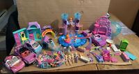 Gigantic Polly Pocket Lot Dolls, Mermaids, Pets, Cars, Clothes, Accessories