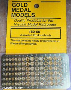 Gold Metal Models N #16055 Assorted Brakewheels (15 Different Styles) Brass