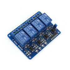 1PCS DC 12V 4-Channel Relay Module Optocoupler For Arduino PIC ARM AVR DSP  UK
