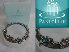 PartyLite P7276 Hydrangea Wreath Tea Light Candle holder /Frosted Glass Pewter