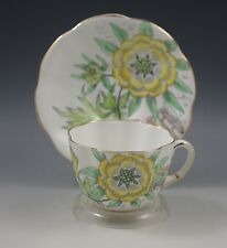 DECO TAYLOR & KENT ENGLAND BONE CHINA CUP AND SAUCER SET #6786 BOLD FLOWERS