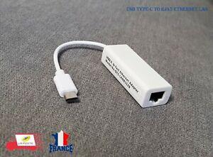 Carte Réseau Lan USB 2.0 Type C vers RJ45 100 Mbps adaptateur Ethernet