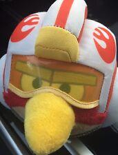 "Angry Birds Luke Skywalker Plush 5"" Stuffed Animal Red Bird Star Wars Visor 2012"