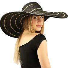 """Summer Elegant Derby Big Super Wide Brim 8"""" Brim Floppy Sun Beach Dress Hat"""