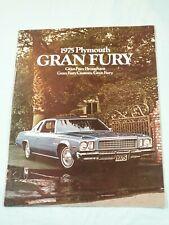 Vtg Original 1975 PLYMOUTH Gran Fury Promotional Brochure