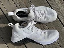 Nike Metcon Flyknit 3 CrossFit White/White Women's 8.5 VEUC