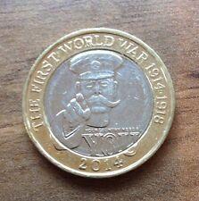 Première guerre mondiale £ 2 coin 2014 COMMEMORATIVE - 100TH anniversaire de l'épidémie