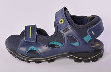 Ecco Urban Safari Infant Boys Blue Leather Sandals UK 10 EU 28 US 11-11.5 RRP 45