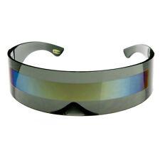sunglassLA Futuristic Wrap Around Monoblock Shield Sunglasses