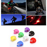 LED Bike Lights For All Bicycles Front Rear Hazard Waterproof Push Clip Lights