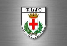 Autocollant sticker voiture blason ville drapeau ecusson milan milano italie