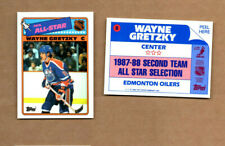 1988-89 Topps Sticker Inserts #8 Wayne Gretzky Los Angeles Kings FREE SHIPPING