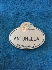 Walt Disney World Cast Member Name Tag Badge 2000 ANTONELLA Magnet Back