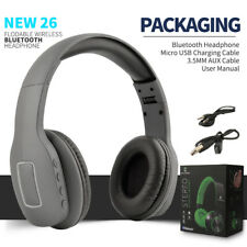 Bluetooth Foldable Folding On Ear Headphones Headset Mic For iPod iPad iPhone PC